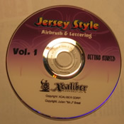 Jersey Style Airbrushing DVD set- Volume 1