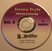Jersey Style Airbrushing DVD Set- Volume 2