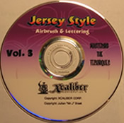 Jersey Style Airbrushing DVD set- Volume 3